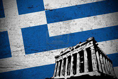hellas acropolis with flag